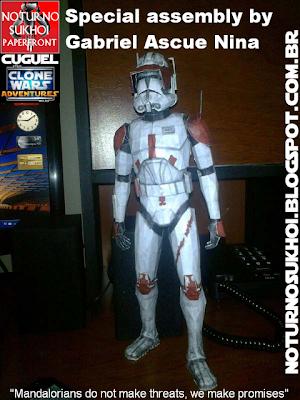 star wars clone wars - commander cody phase ii papercraft | papercraft paradise | papercrafts