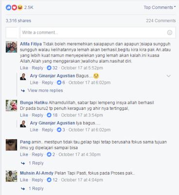 komentar di postingan ary ginanjar