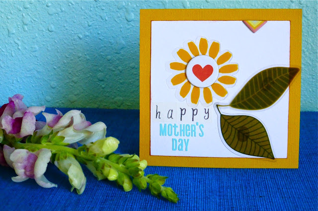 Mother's Day, Mother's Day Greeting Card, Name Banner, scrapbook supplies, use scrapbook supplies to make greeting card, handmade greeting card