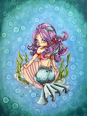 Jade Dragonne Mermaid Pin-Up