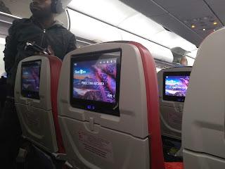 Televisi di pesawat sorong