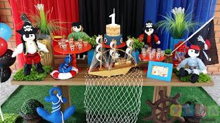 Decoração festa infantil Piratas