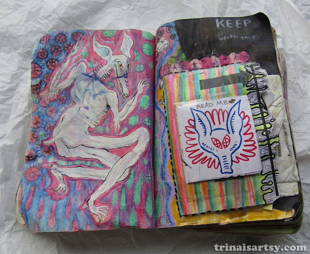 Wreck this Journal - Wrap something with this page