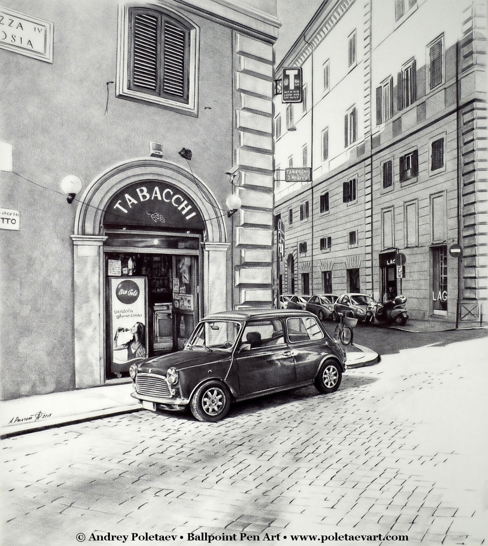 03-Quiet-Street-in-Rome-Andrey-Poletaev-Detailed-Urban-Drawings-achieved-with-a-Ballpoint-Pen-www-designstack-co