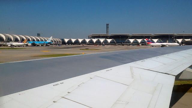 Изображение поля аэродрома Суварнабхуми, Бангкок, Тайланд