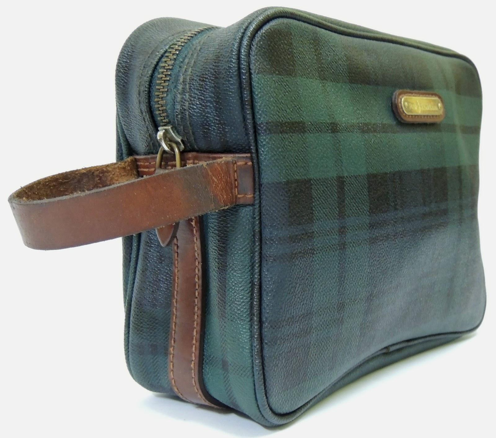Janji Laku  Vintage Checkered POLO RALPH LAUREN Wristlet Pouch Bag a196b803a4e8a