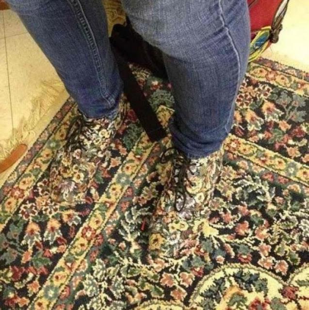 Nós não queremos imaginar quando você perder seus sapatos como você vai encontrá-los