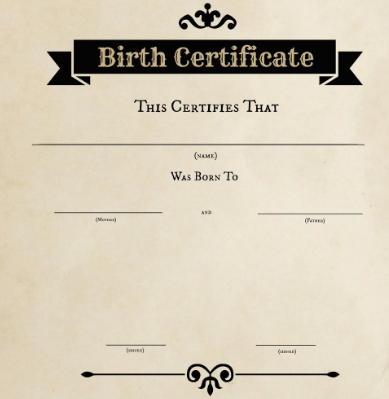 Birth Certificate Name Change India