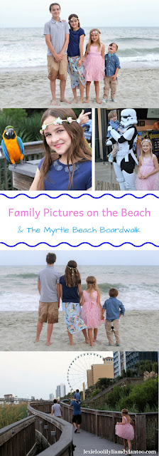 Family Pictures on the Beach & The Myrtle Beach Boardwalk #familyphotography #beachphotography #Downsyndrome #bigfamily #familytravel #travelwithkids #myrtlebeach #beachvacation