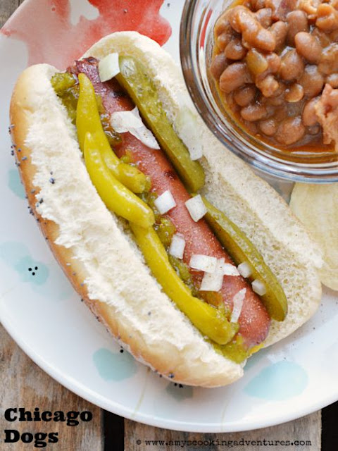 Chicago Dogs by Amy's Cooking Adventures