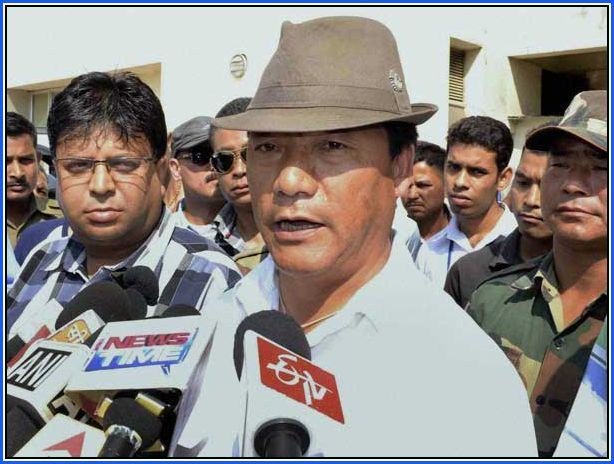 Roshan Giri with Bimal Gurung Gorkha Janmukti Morcha leaders