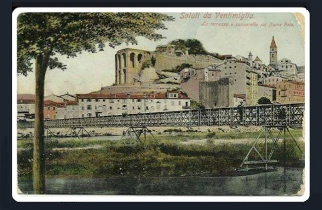 Cartolina d'epoca di Ventimiglia