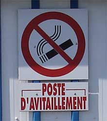 Poste d'avitaillement à Honfleur