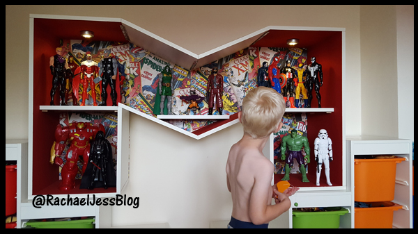 creating a superhero shelving unit
