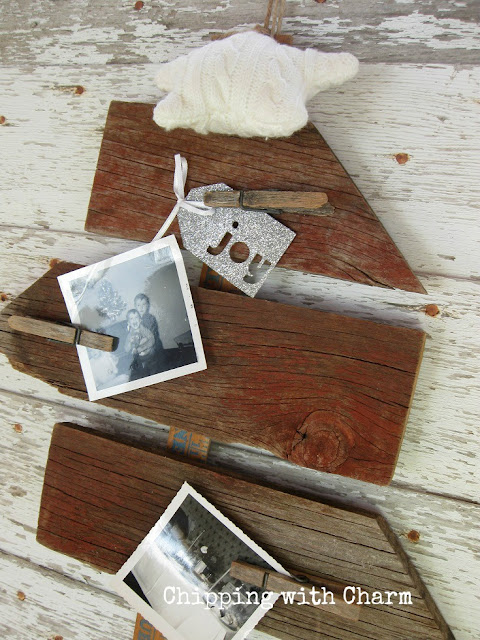 Chipping with Charm: Barn wood scrap tree...www.chippingwithcharm.blogspot.com