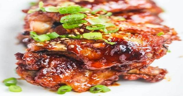 Baked Korean Gochujang Chicken Wings Recipe