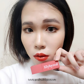 Review; Lilybyred's Mood Liar Velvet Tint #03 Apricot