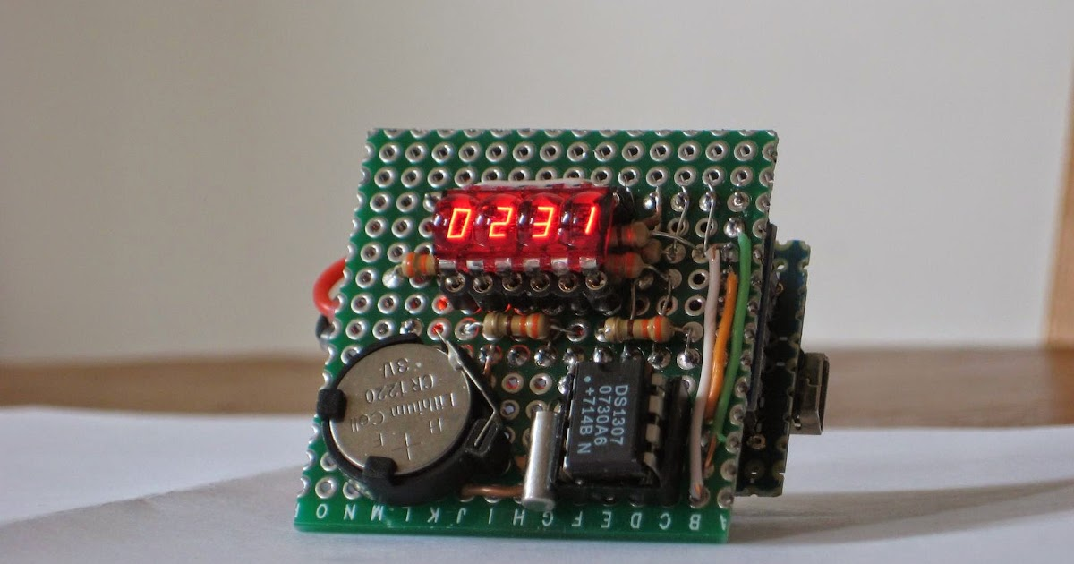 Wise Time With Arduino Micro Clock With 7 Segment Bubble