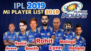 IPL 2019 MI squad