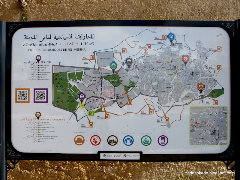 Fes - mapa szlaków