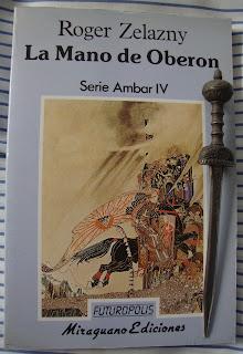 Portada del libro La mano de Oberon, de Roger Zelazny
