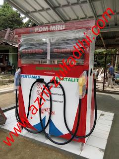 Mesin Pom Bensin Mini Pertamini Digital 2 Selang Nozle
