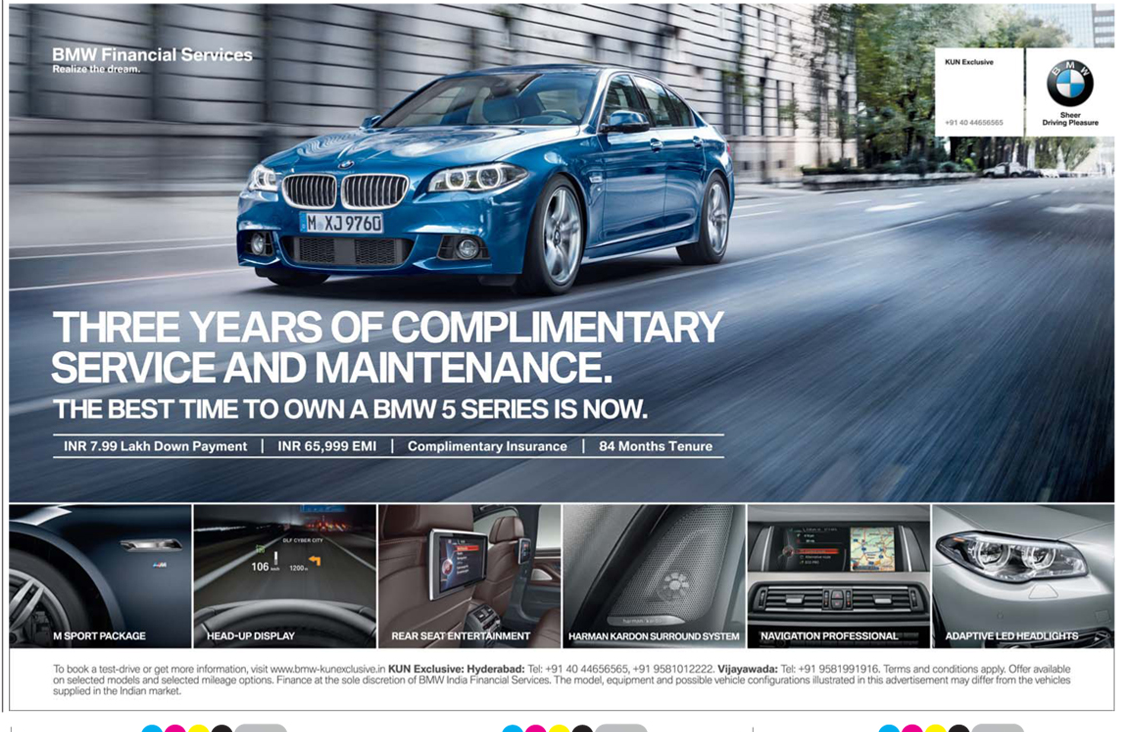 Best time to own BMW 5 series with amazing offers | April 2016 discount offer