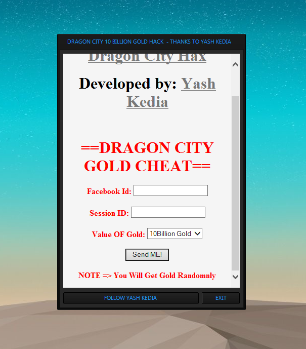 PHO Dragon City 10B Gold Hack ~ Hot Shot Gamers