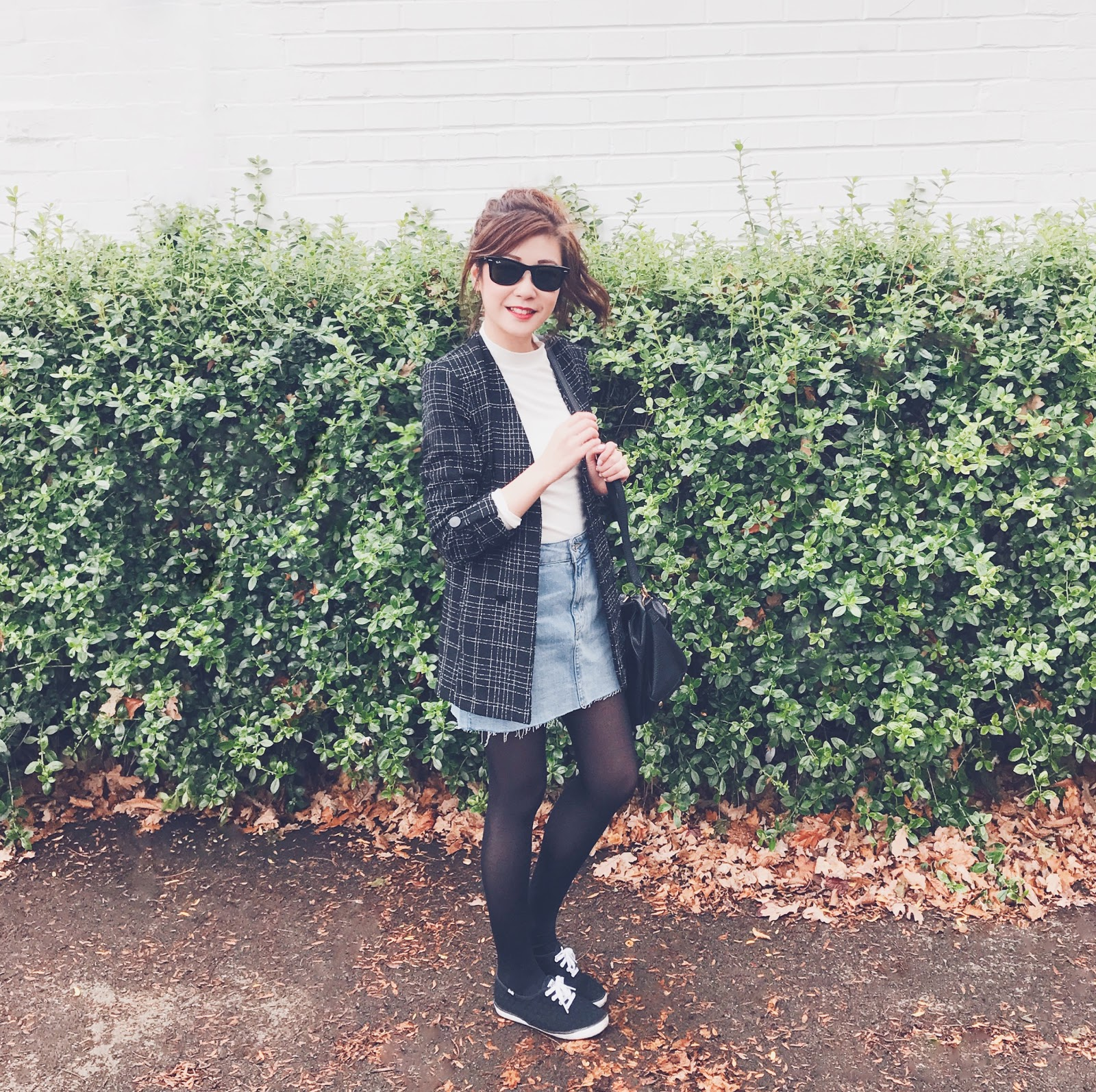 How to style a denim mini skirt in Autumn, UK Fashion blogger, north east fashion blogger