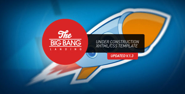 The Bang Under Construction Page Themeforest