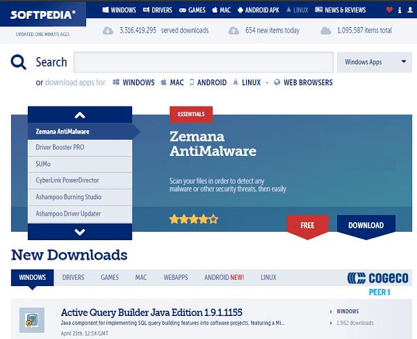 Soft Pedia télécharger des logiciels et applications pour PC