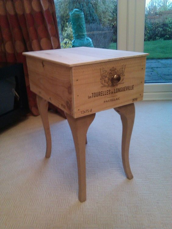 Wine crates and boxes for Coffee table made out of wine crates
