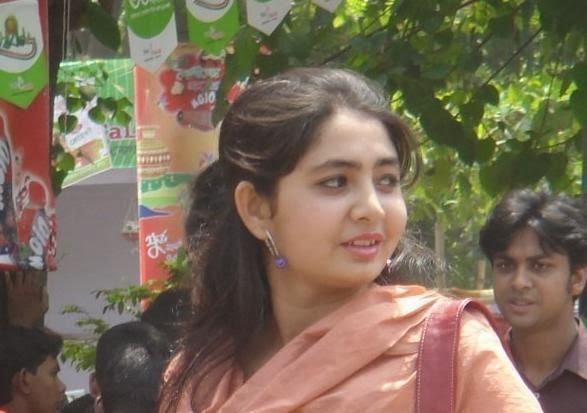 Bangladeshi Hot Girl posing with her transparent dress showing navel