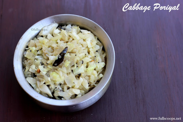 Cabbage Poriyal