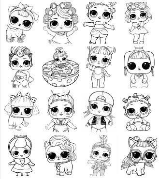 Desenhos Para Colorir Das Bonecas Lol Surpresa Criatividade