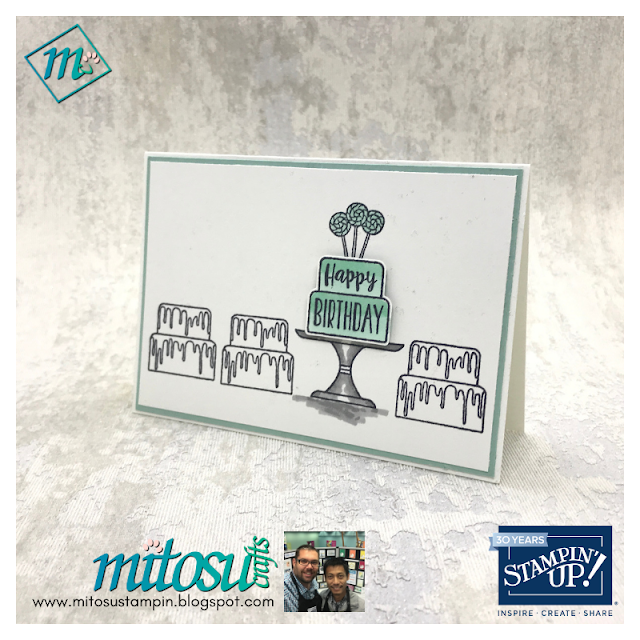 Piece of cake stamps set for #simplestamping Sunday from Stampin' Up! handmade by Barry from Mitosu Crafts