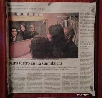 Puro teatro en La Guindalera [El País]