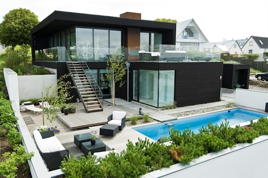 A Modern House on Beach with Warm and Open Floor Design for Your Relaxing Daily Life ~ Lesemamma Blog