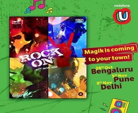 VODAFONE U ROCK ON 2 LIVE CONCERTS IN BENGALURU, PUNE, AND DELHI