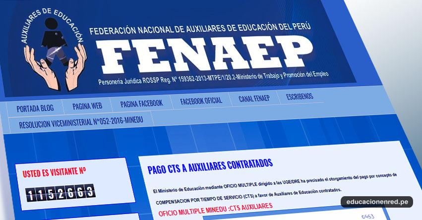 CTS: Pago para Auxiliares Contratados - FENAEP