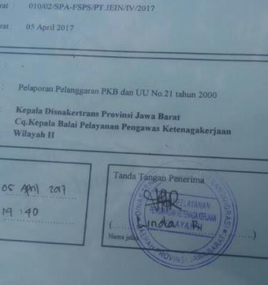 FSPS Mengadukan PT.JVC KE BP2K