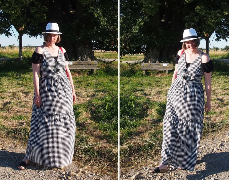 Sunny im Sommerkleid unter der Patzinger Linde