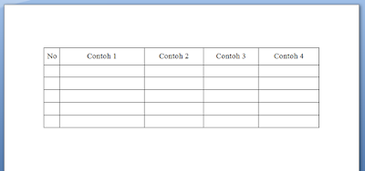 Cara Membuat Tulisan Tepat di Tengah Tabel MS Word 5
