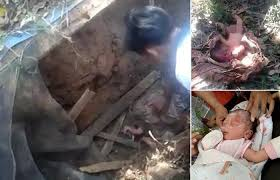 Baby is rescued after being buried alive in Indonesia
