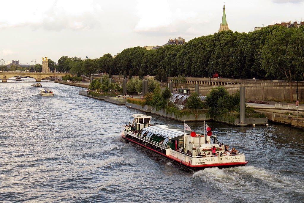 Les jardins flottants, The Floating Gardens, Berges de Seine, Port du Gros-Caillou, Paris