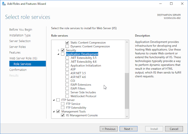 Wizard d'installation d'IIS sur Windows 10 Server Data Center - 3 Vide !