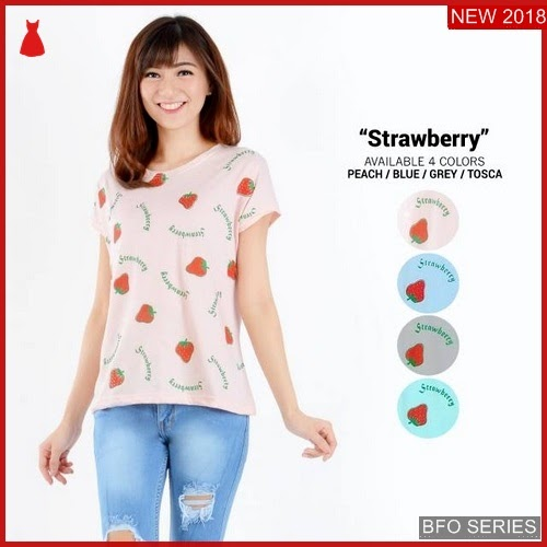 BFO065B29 TUMBLR Model TEE STRAWBERRY Jaman Now MODIS BMGShop