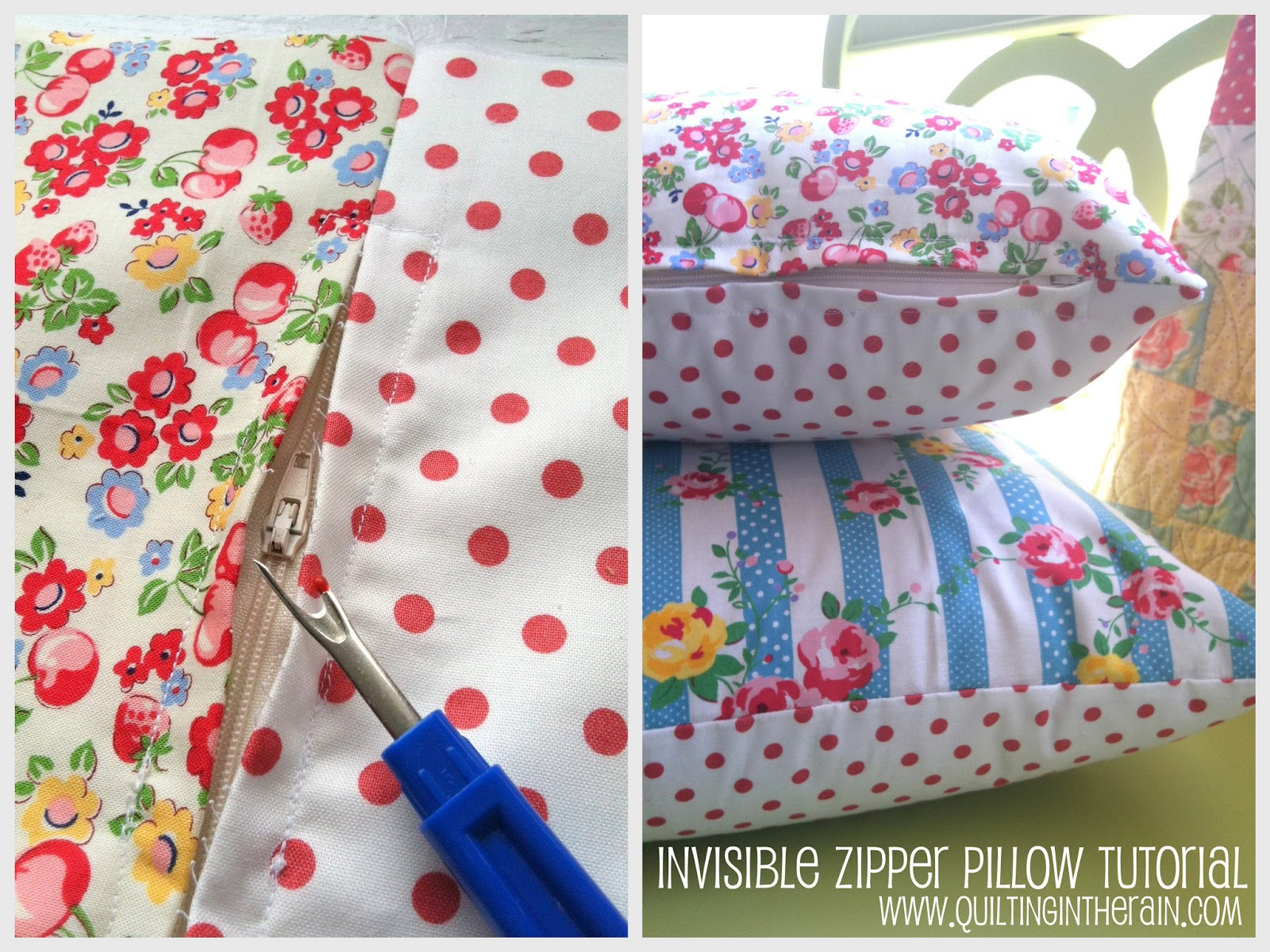 Invisible Zipper Pillow Tutorial