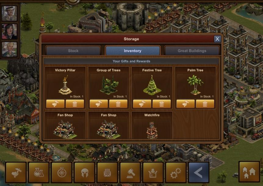 Forge of Empires: iPad Player Guide (Inventory / Storage