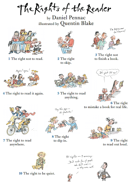 The rights of the reader -Quentin Blake / Daniel Pennac